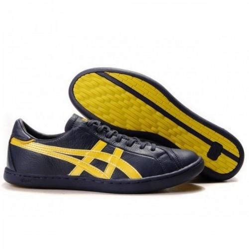 Pour Acheter OV0720 Chaussures Bleu Soldes Asics Onitsuka Tiger Seck 1968Lo Marine jaunes 19204699 Pas Cher