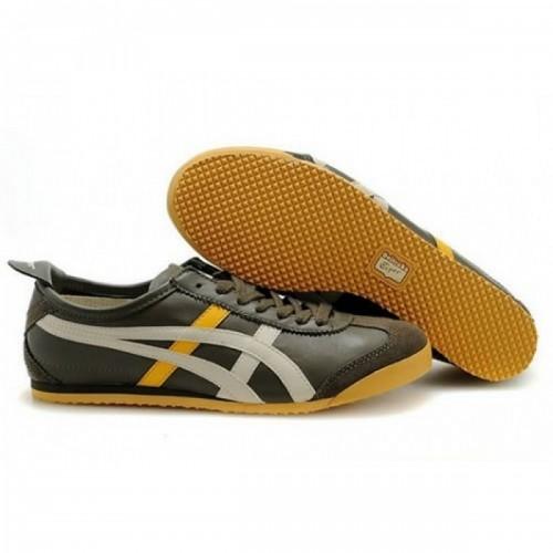 Pour Acheter QL8468 Femmes Soldes Asics Mexico 66 Chaussures B1402rown Jaune Blanc 96531785 Pas Cher