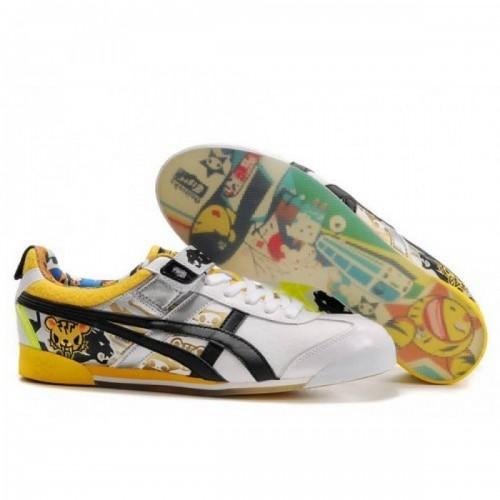 Pour Acheter UG6075 Femmes1293 Soldes Asics Onitsuka Tiger Tokidoki Mex Lo Chaussures Blanc Noir Jaune 75003701 Pas Cher
