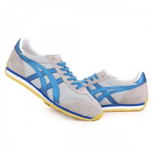 Pour Acheter YW9397 Soldes Asics Onitsuka Tiger California 78 Gris Bleu Jaune Chaussures 486264197949 Pas Cher