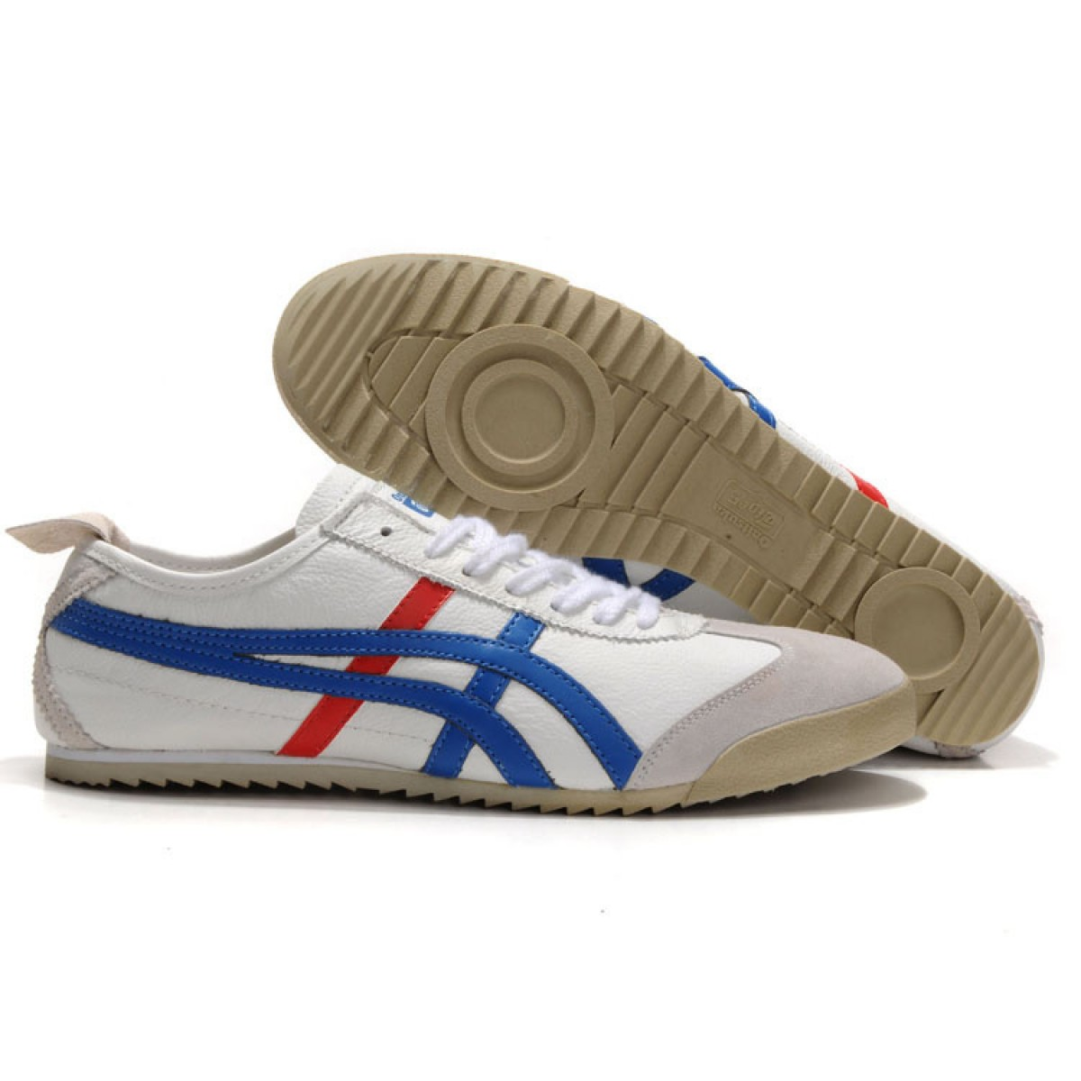 WS9566 2017 Soldes Asics New Style bleu blanc rouge 90221219 Pas Cher