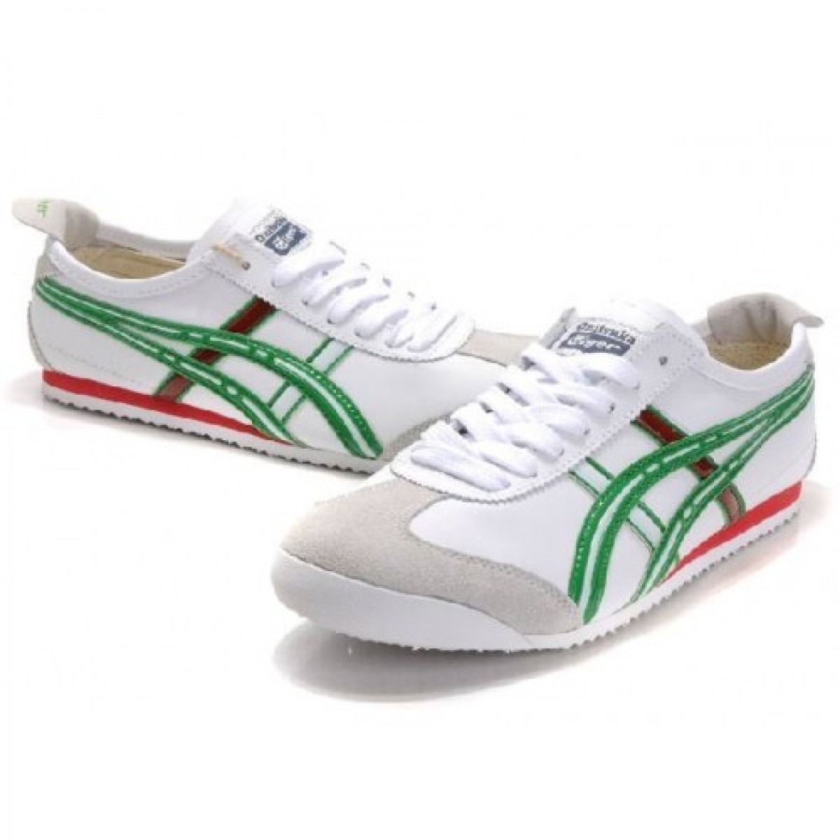 QF2662 Soldes Asics Mexico 66 Blanc Vert Red Shoes 79513933 Pas Cher