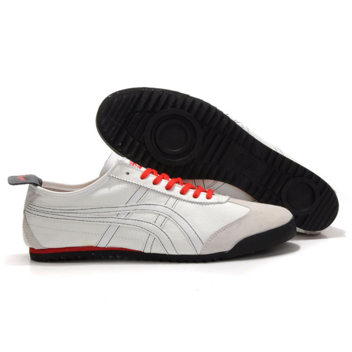 GL4626 Soldes Asics Mexico 66 Deluxe Homme blanc rouge 80102150 Pas Cher