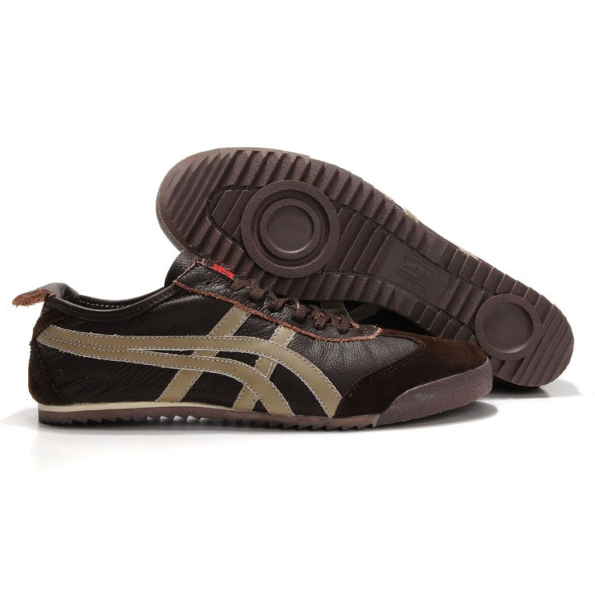 WS6302 Soldes Asics Mexico 66 Deluxe Hommes beige brun 34486393 Pas Cher