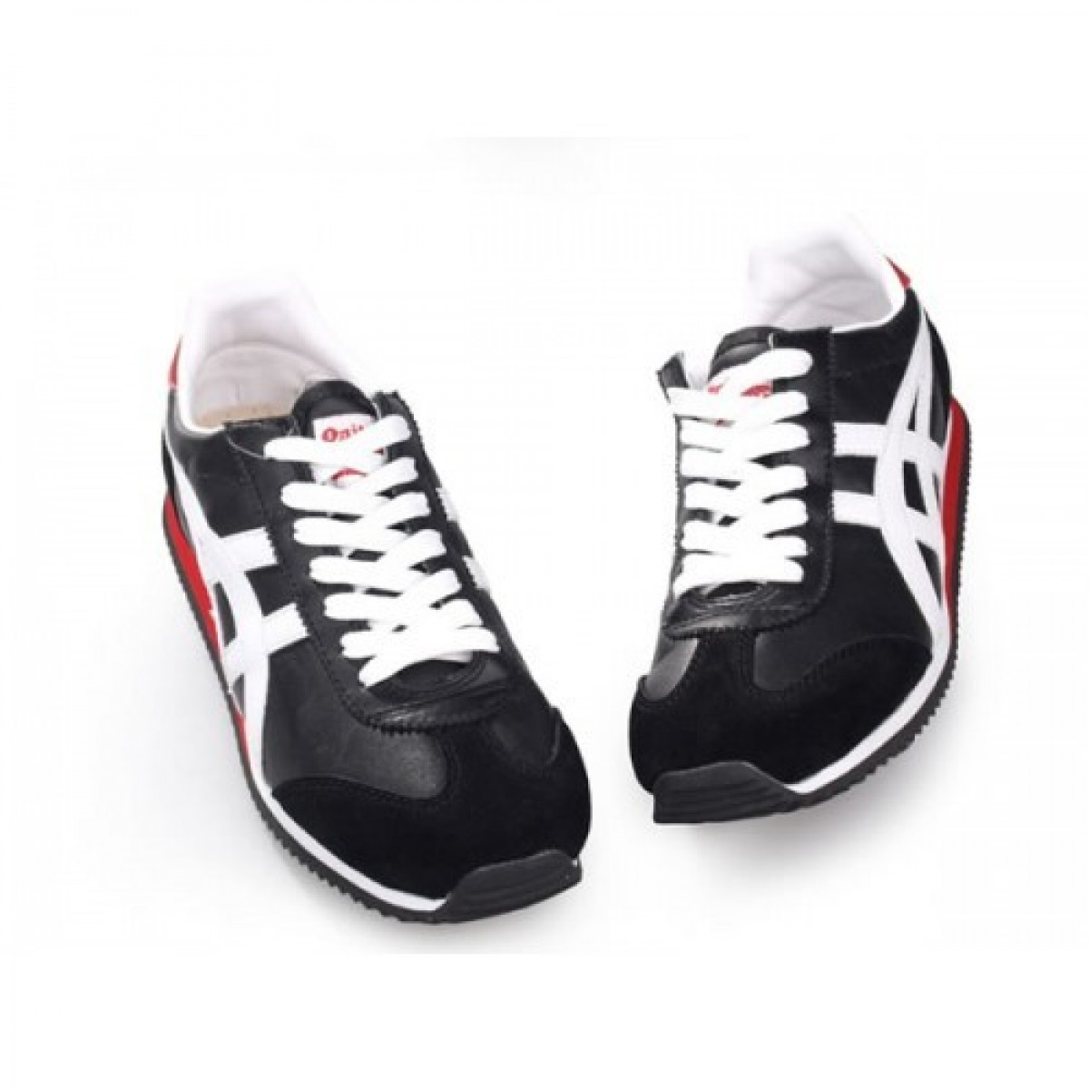 SP9328 Soldes Asics Onitsuka Tiger California Chaussures Noir Blanc Rouge 03891691 Pas Cher