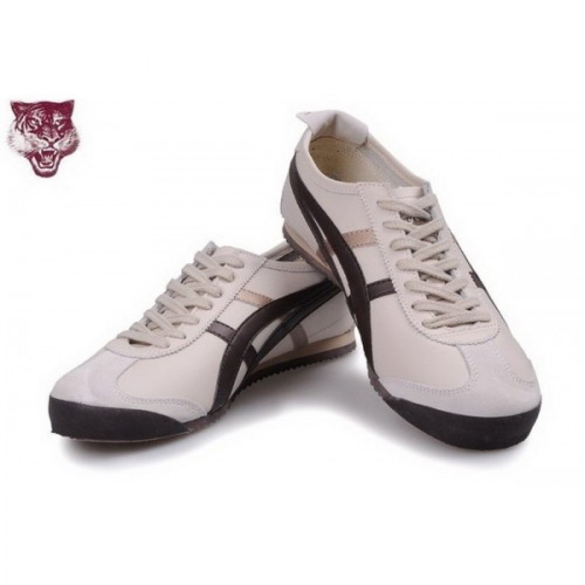 RV0696 Soldes Asics Onitsuka Tiger Kanuchi Chaussures Beige Brown or Chaussures 14546570 Pas Cher