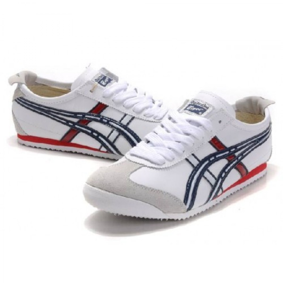 FB8207 Soldes Asics Onitsuka Tiger Mexico 66 Blanc Bleu Rouge 05639947 Pas Cher