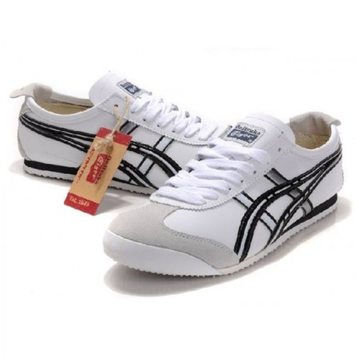 QD5316 Soldes Asics Onitsuka Tiger Mexico 66 Chaussures Blanc Noir 97602737 Pas Cher