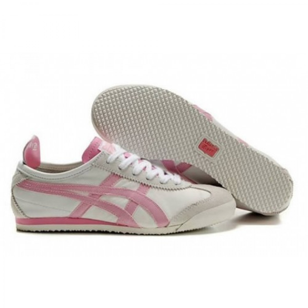 CO0396 Soldes Asics Onitsuka Tiger Mexico 66 Chaussures Femmes Blanc Rose 05739980 Pas Cher