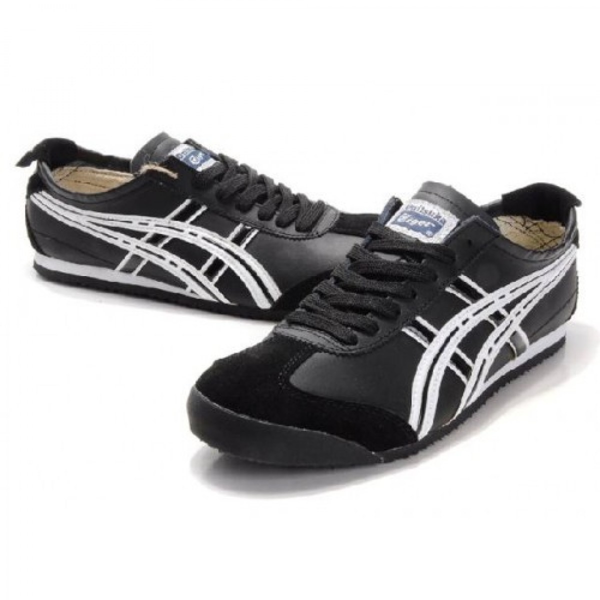 XM5529 Soldes Asics Onitsuka Tiger Mexico 66 Chaussures Hommes Noir Blanc 75330425 Pas Cher