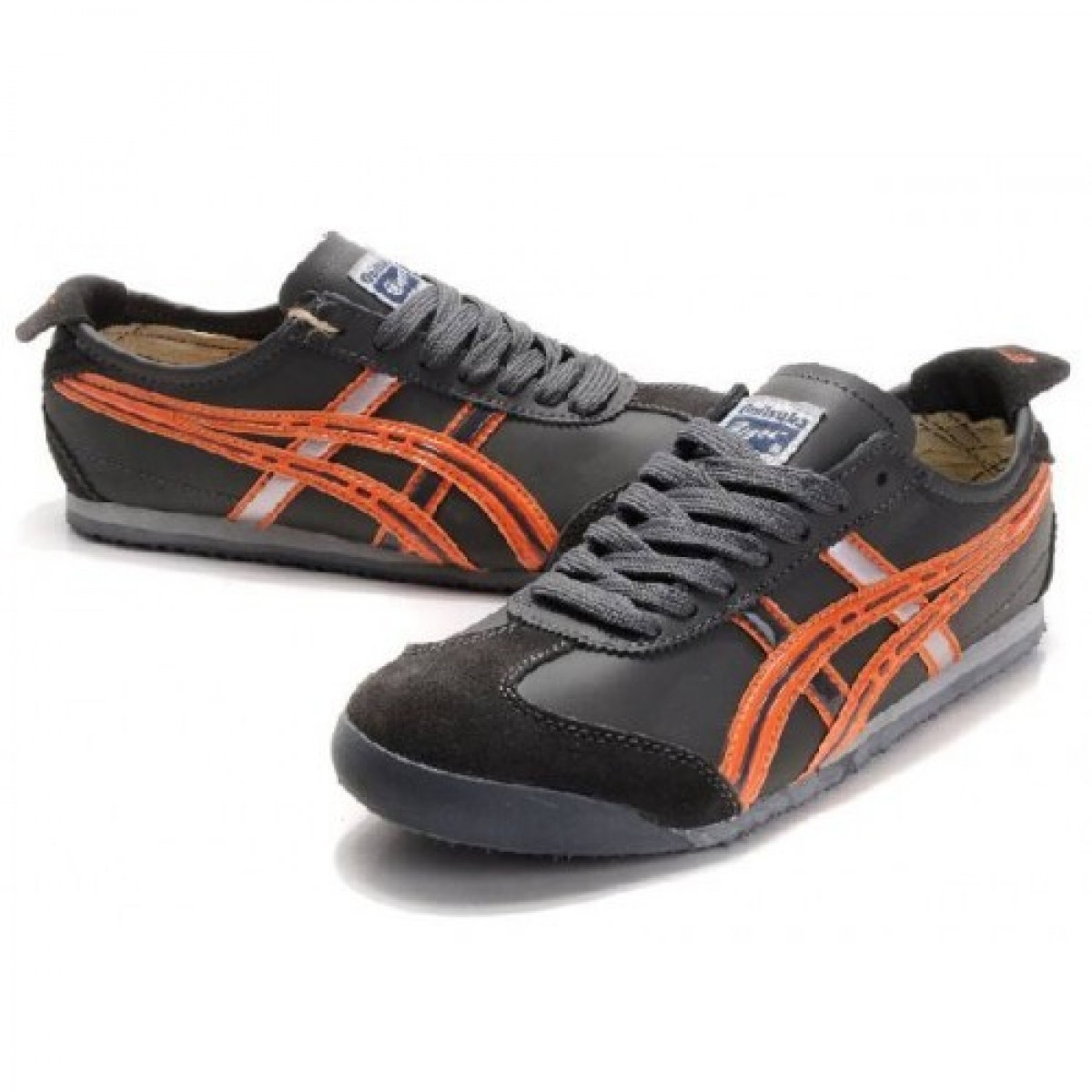 DP0875 Soldes Asics Onitsuka Tiger Mexico 66 chaussures gris orange 91886832 Pas Cher