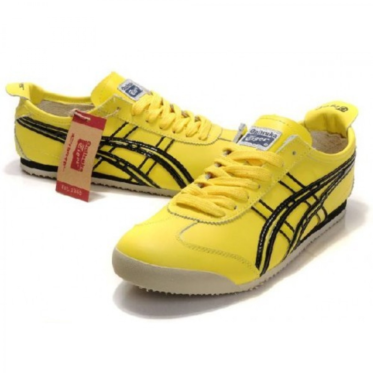 ID2581 Soldes Asics Onitsuka Tiger Mexico 66 chaussures jaune noir 57815323 Pas Cher