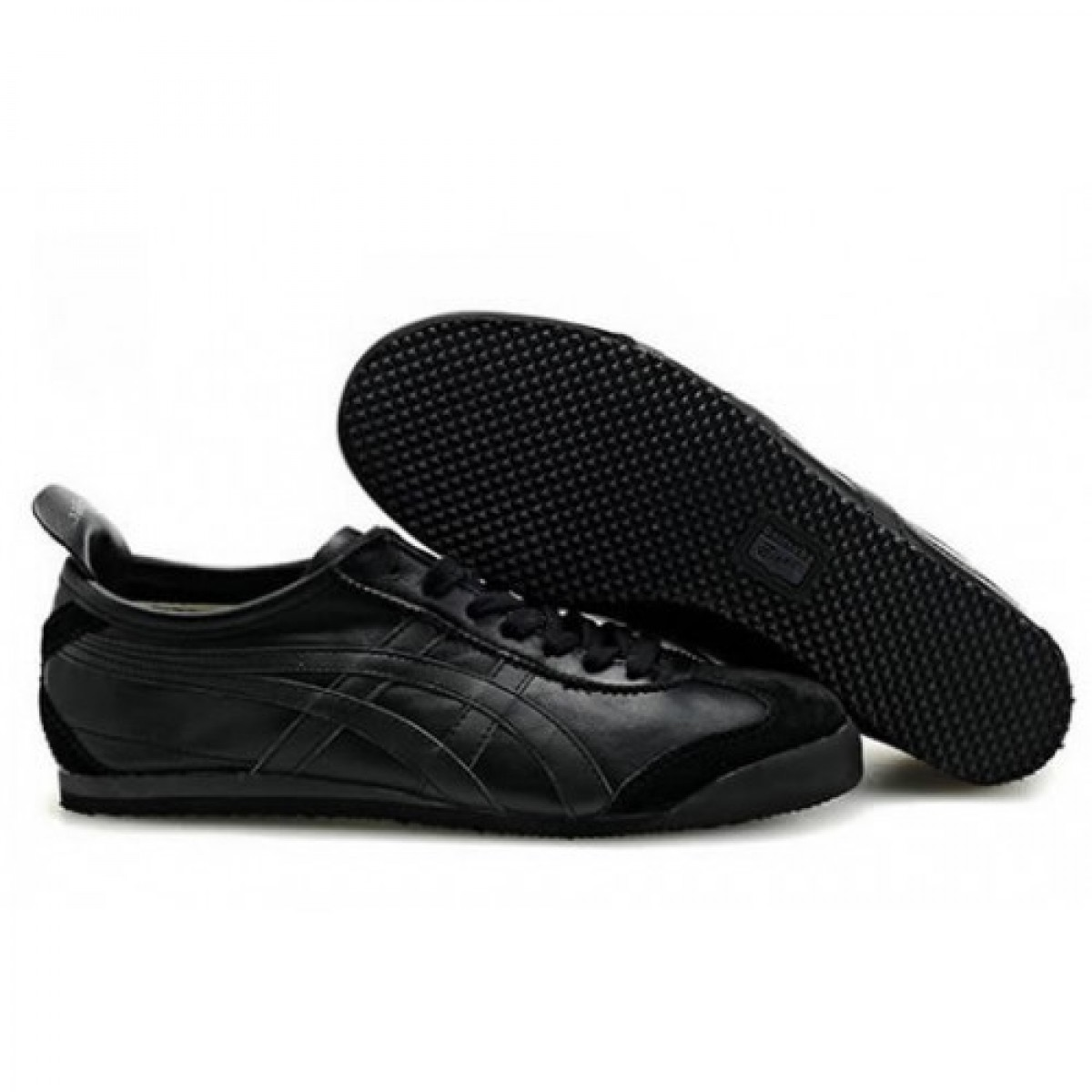 PB7868 Soldes Asics Onitsuka Tiger Mexico Womens 66 All Black 48148536 Pas Cher