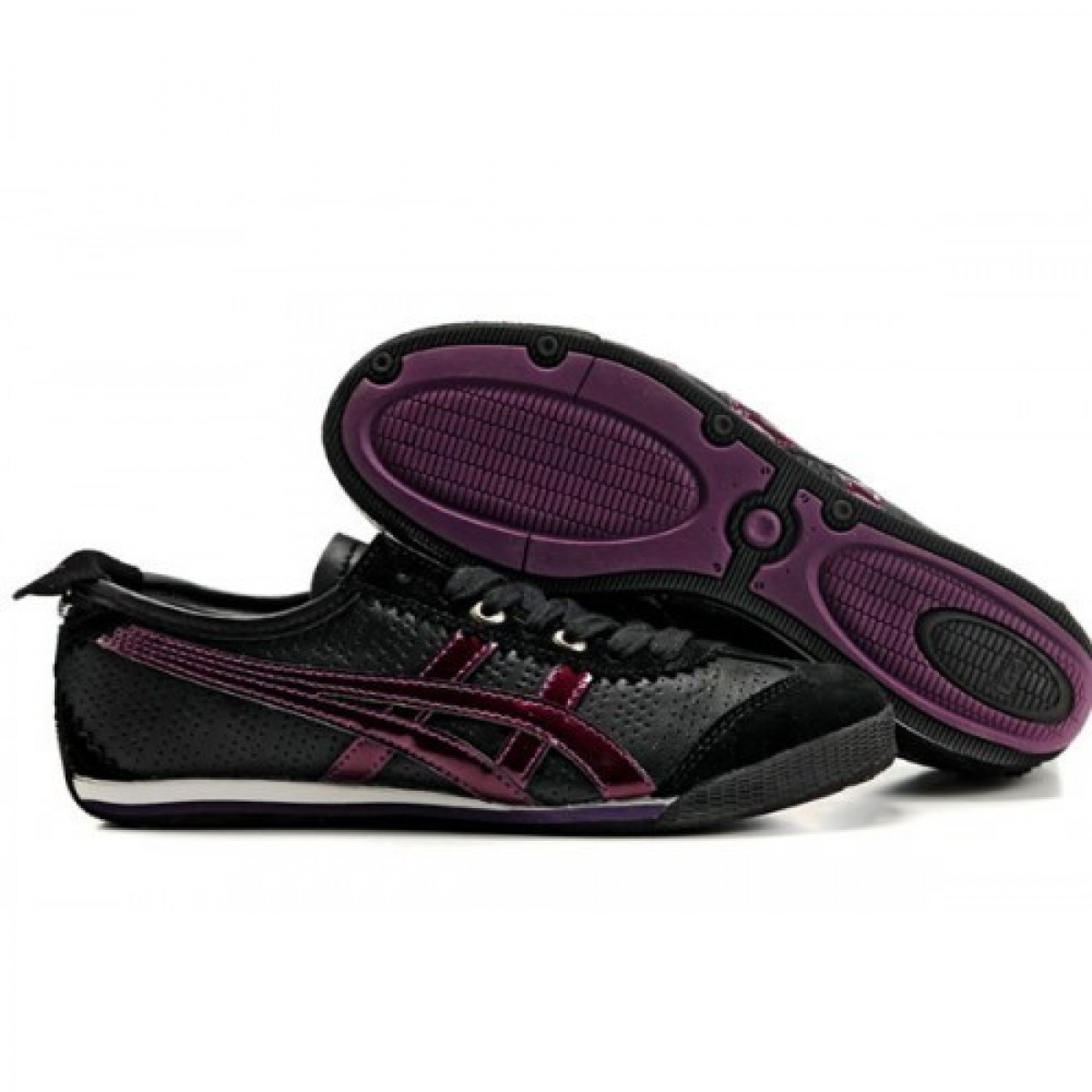 AS0646 Soldes Asics Onitsuka Tiger Mini Cooper Chaussures Noir Violet 15496238 Pas Cher