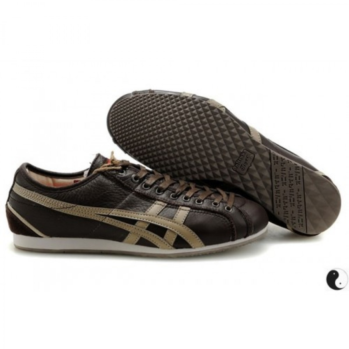 HN1836 Soldes Asics Onitsuka Tiger Olympos Brown beige foncé Chaussures 65703260 Pas Cher