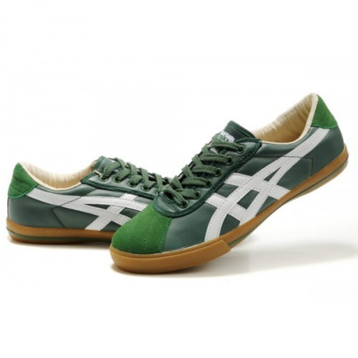 FI4503 Soldes Asics Onitsuka Tiger Rotation 77 Chaussures Vert Blanc 44454380 Pas Cher