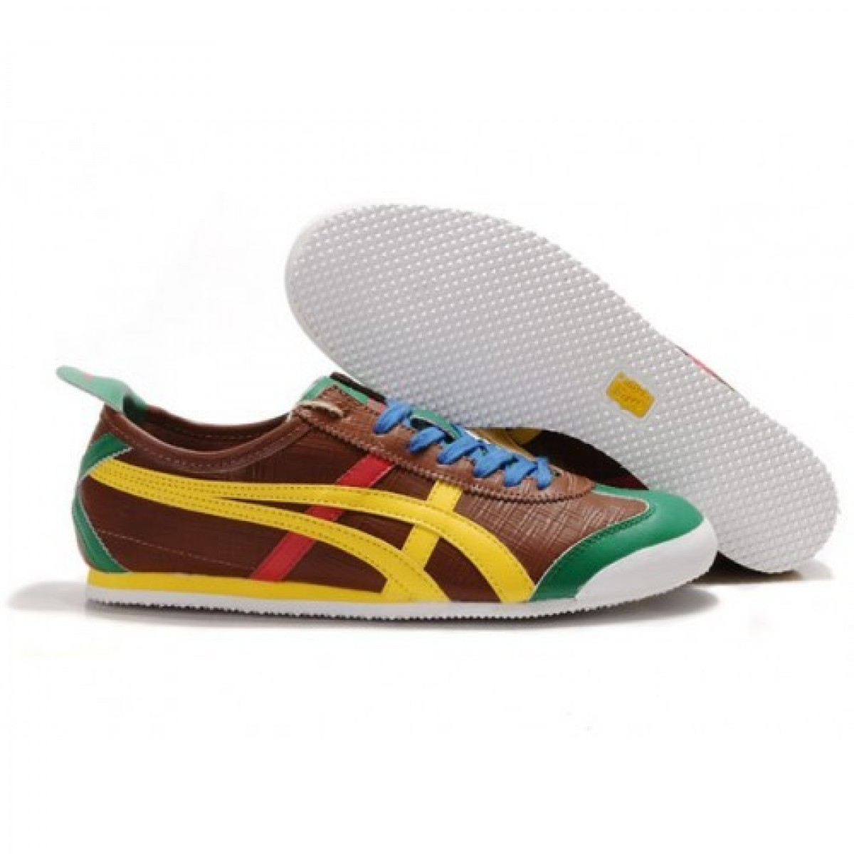 OE8574 Soldes Asics Tiger Mexico 66 Lauta Chaussures Brown Jaune Rouge Gree 60839682 Pas Cher