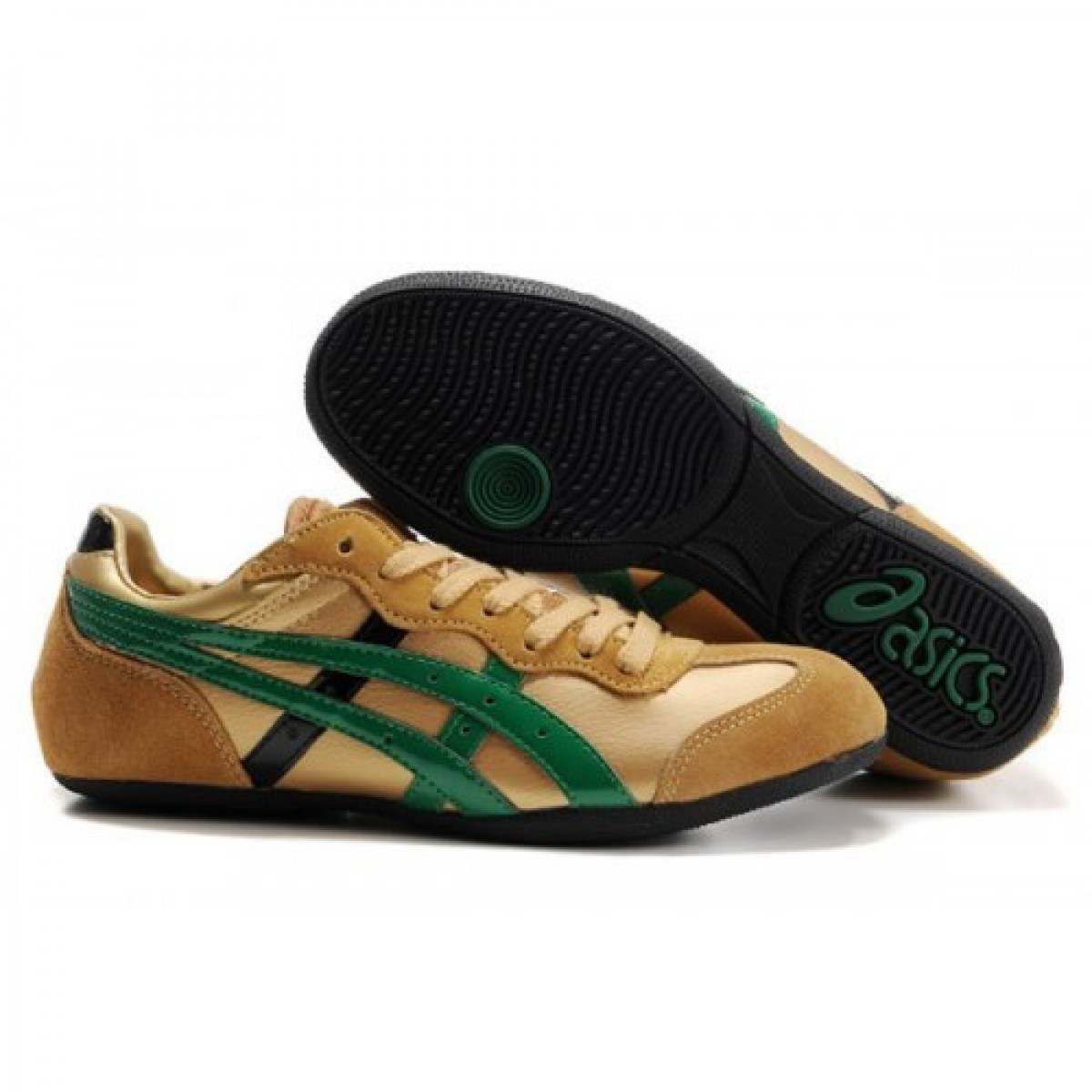 VQ5534 Soldes Asics Whizzer Lo or chaussures chaussures vert noir 35025973 Pas Cher
