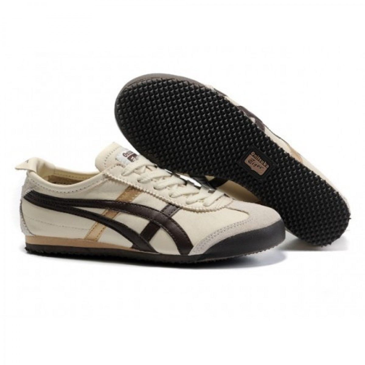 VU3308 Hommes Soldes Asics Onitsuka Tiger Mexico 66 Chaussures Beige Brown 16321262 Pas Cher